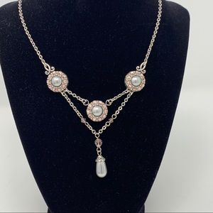 BRIGHTON NECKLACE WITH PRETTY CRYSTAL DROP